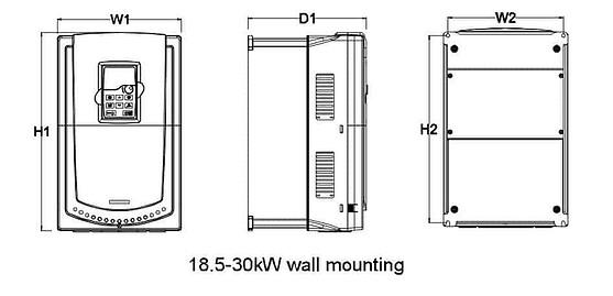 Mô tả kích thước GD200A 18.5-30kw