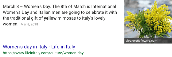 what is the flower for international women's day
