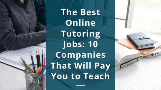 best online tutoring jobs from home