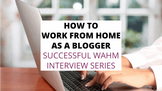 how to work from home as a blogger