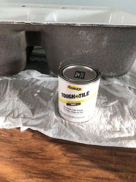 refinish a cast iron sink