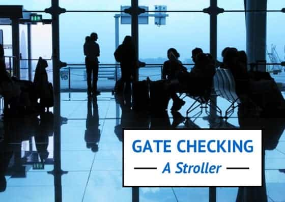 gate checking a stroller, how to gate check a stroller, gate check a stroller, airline stroller policies, airplane stroller