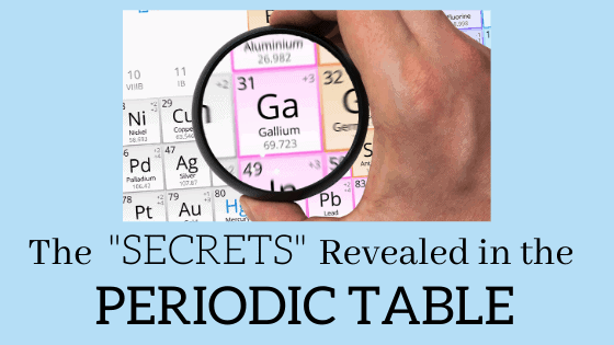 The periodic table holds a wealth of information once you know where to look