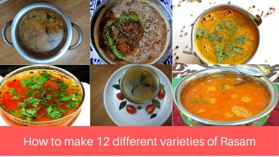 How to make 12 varieties of Rasam