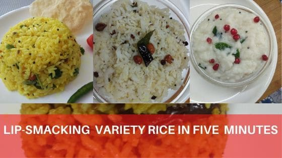Lip-Smacking Variety Rice in Five Minutes