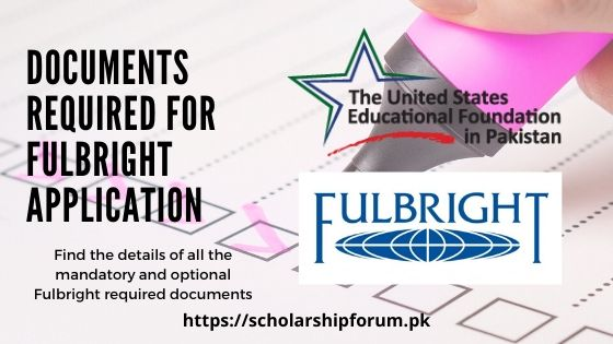 Fulbright required documents