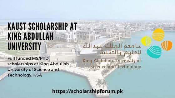KAUST Scholarship at King Abdullah University