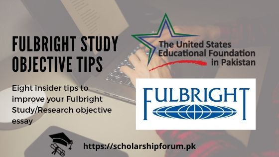 Fulbright Study objective tips