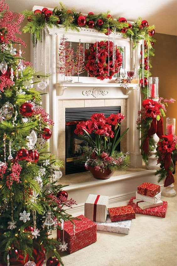Festive Holiday Decorating Ideas for your Fireplace Mantel ...