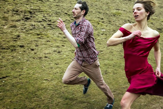 Greig Cooke and Antonia Grove in Running on Empty (photo: Matthew Andrews)