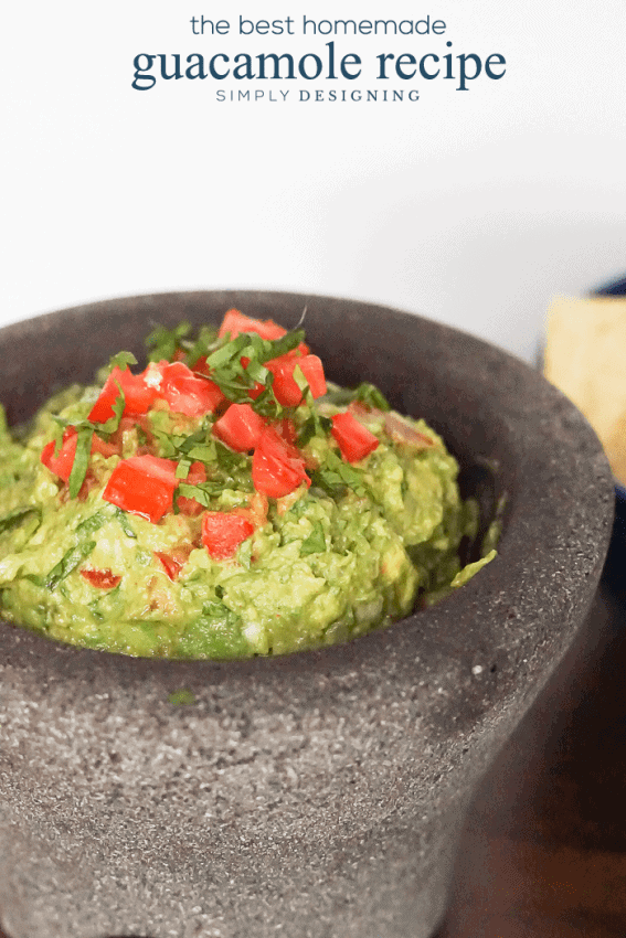 The Best Homemade Guacamole Recipe - this recipe is easy and so very delicious