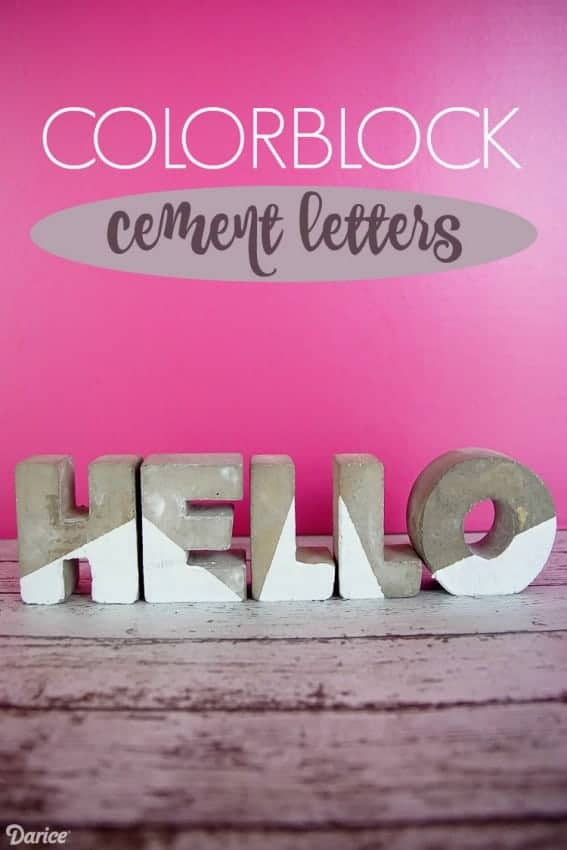 colorblocked cement letters darice