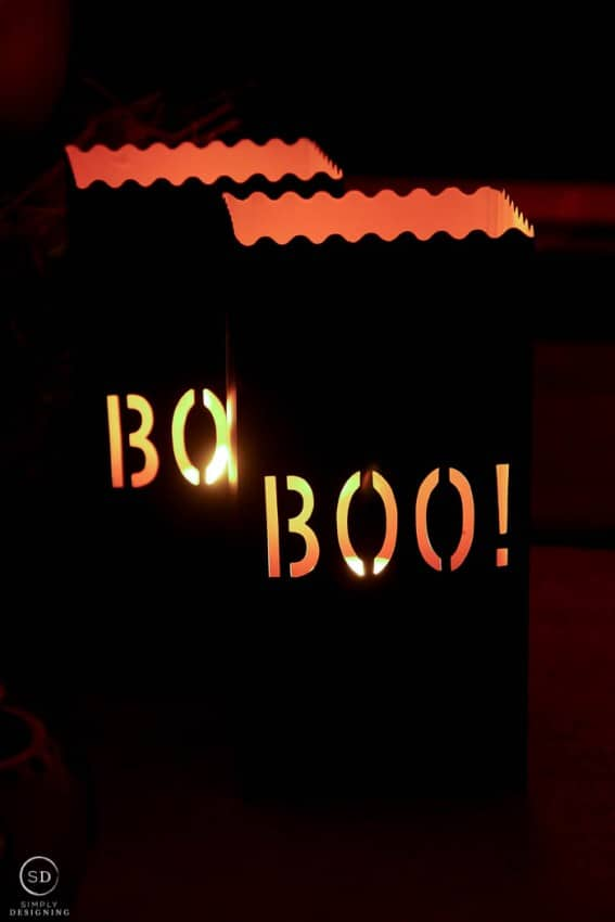 Outdoor Halloween Decorations at night