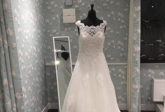 wedding dress at Magnolia Bridal Designs