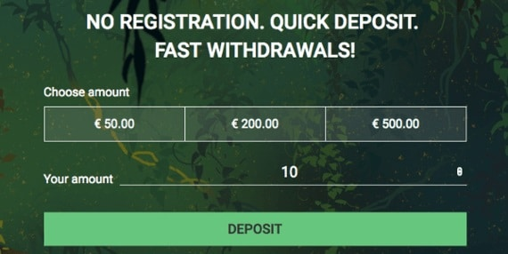 Mango Casino no account, fast deposits, no wagering