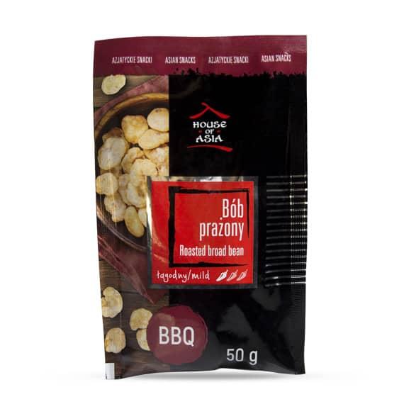 Snacki bób prażony BBQ 50 g house of asia