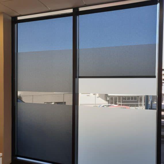 Sunscreen roller blinds in Grafton