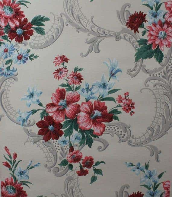 beautiful floral wallpaper design