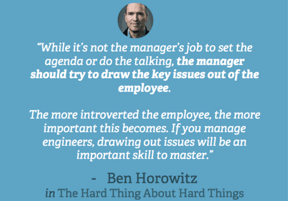 High Output Management: ask questions is an idea Andy Grove and Ben Horowitz Love