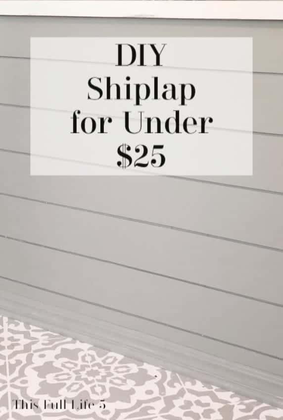 DIY Shiplap for Less Than $25