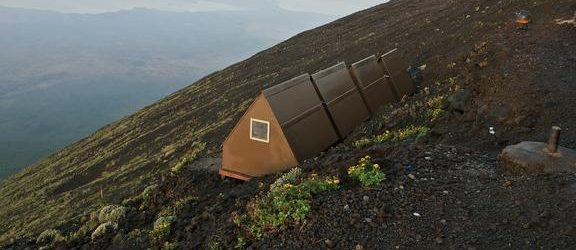 Nyiragongo Volcano Summit Shelters View
