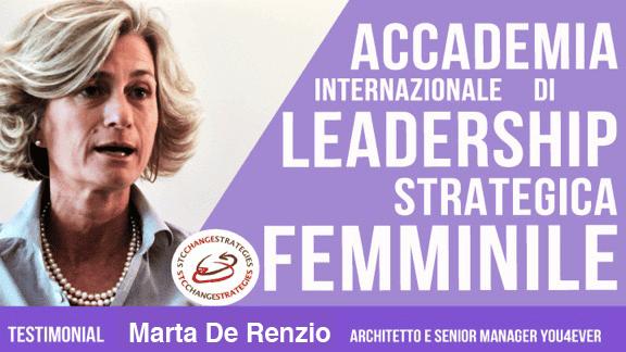 leadership femminile Marta de Renzio Intervista