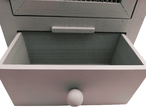 Image shows the egg cup storage drawer.