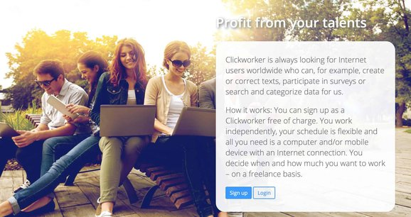 Clickworker microjobs for students