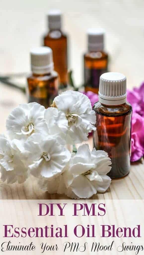 DIY PMS Essential Oil Blend - Don't let PMS run your life! Take action and make this DIY PMS essential oil blend today. Happier periods are just around the corner. #pms #femininecare #moodswings #period #essentialoils #naturalremedies