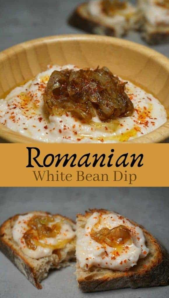 White Bean Dip with Caramelized Onion
