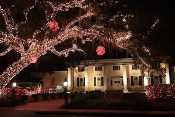 Christmas lights in Florida: Festival of Lights at Stephen Foster Folk Culture Center State Park (Photo by Florida Department of Environmental Protection)