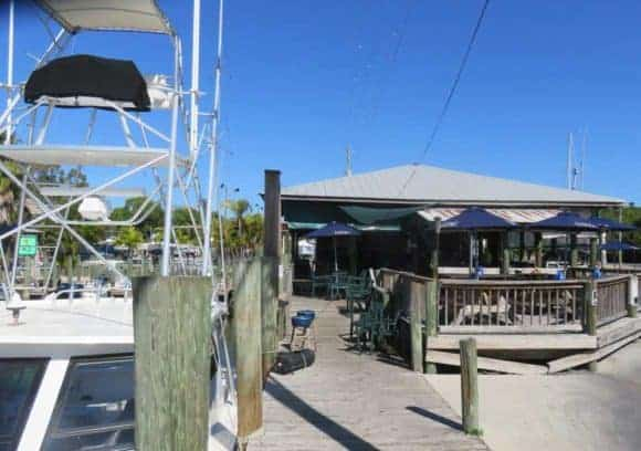 Swordfish Grill, another popular waterfront fish shack in Cortez Florida.