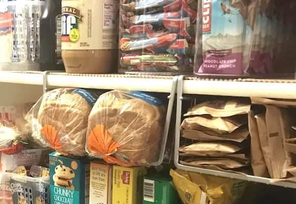 Organize a Walk-In Pantry: Under Shelf Baskets