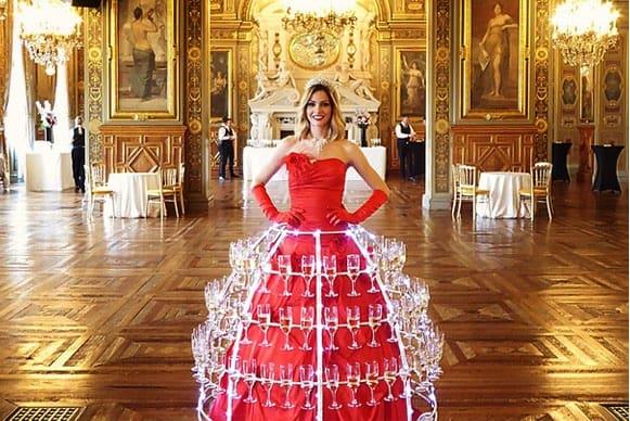 Location robe coupe de champagne