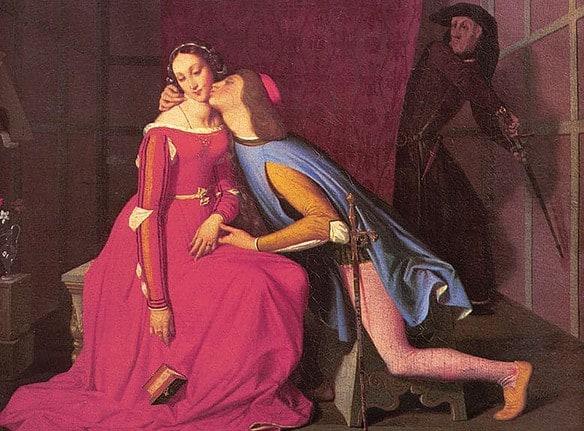 Scène d'infidélité de couple dans le tableau de Ingres Paolo et Francesca - Déjà la jouissance psychique du candaulisme était représentée