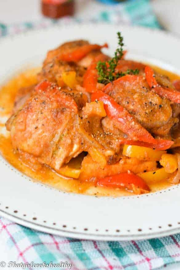haitian stewed chicken (poulet creole)