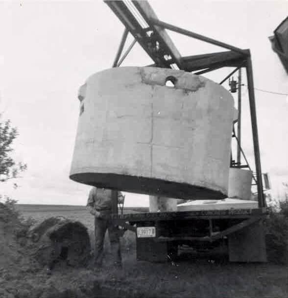 Wieser Concrete 1965 First Septic Tank by Joe Wieser