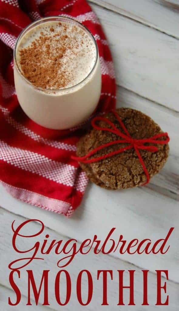 This gingerbread smoothie is an excellent and delicious way to get your iron in! It's also a healthy way to celebrate the holidays...so healthy that you could have it every single day in December (I won't tell!) #refinedsugarfree #smoothie #gingerbread