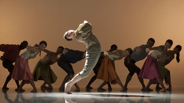 Nicholas Boydich and full company in Rejoice in the Lamb