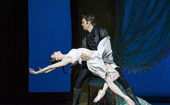Natalia Osipova and Matthew Golding in John Cranko's Onegin (photo: Alastair Muir)