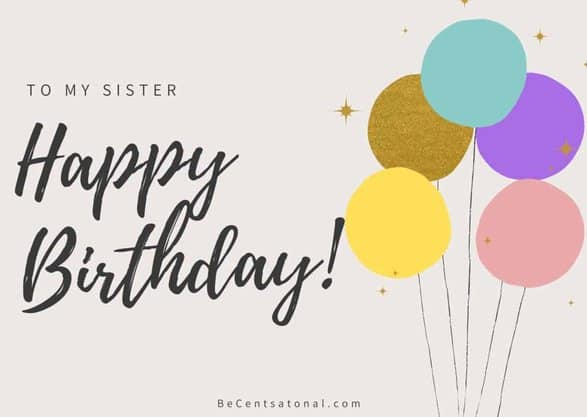 best wishes to sister