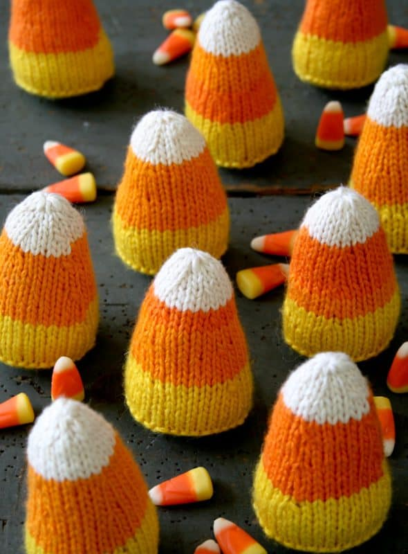 Knitted Candy Corn