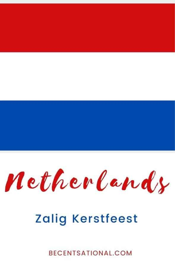 How to say Merry Christmas in Dutch
