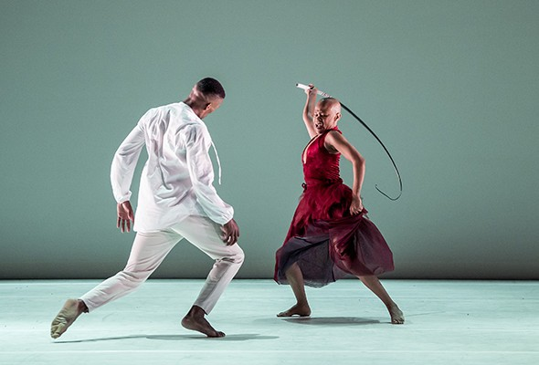 Dada Masilo and Lwando Dutyulwa in Giselle