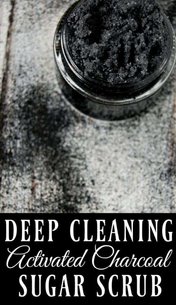 If you want amazing feeling skin, if you want to remove toxins, reduce acne, and have beautiful skin, then this deep cleaning activated charcoal scrub is the scrub for you! #activatedcharcoal #sugarscrub #naturalskincare #greenbeauty #deepcleaning