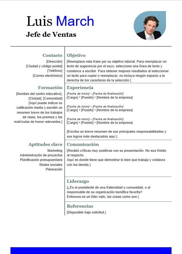 Plantillas de currículum en word iCulum 17