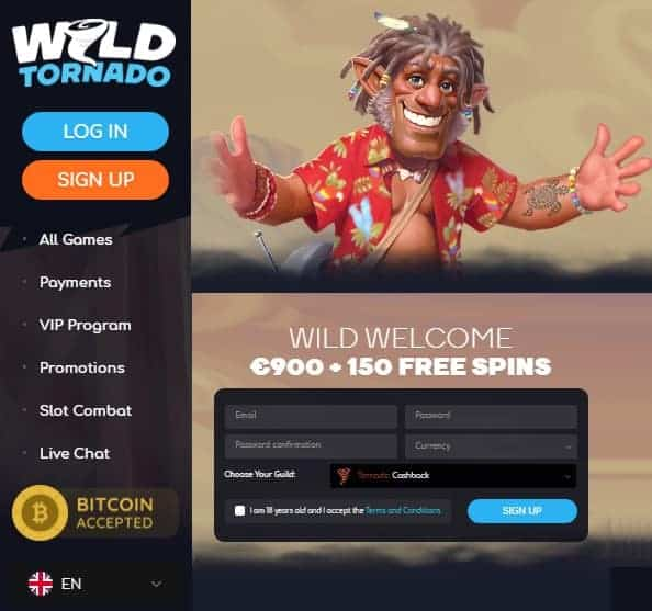 Wild Tornado Bitcoin Casino