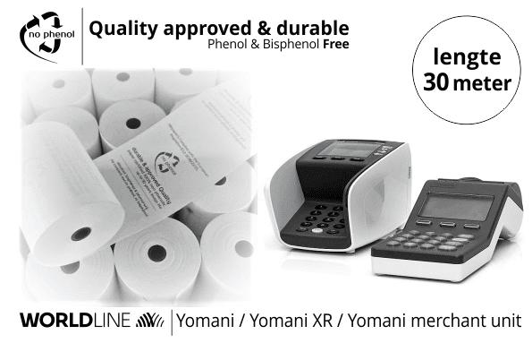 NPpaper Kwaliteitslabel | Worldline Yomani Betaalterminal