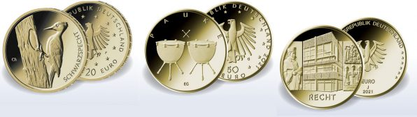 Euro. Goldmünzen, 2021