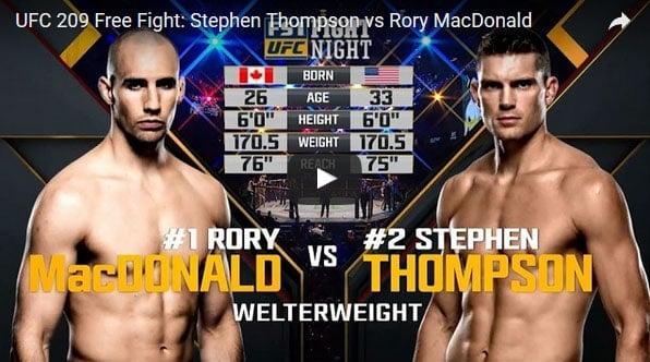 Stephen Thompson vs Rory MacDonald Full Fight Video